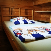 Schlafgalerie Bett links, 140 x 200cm